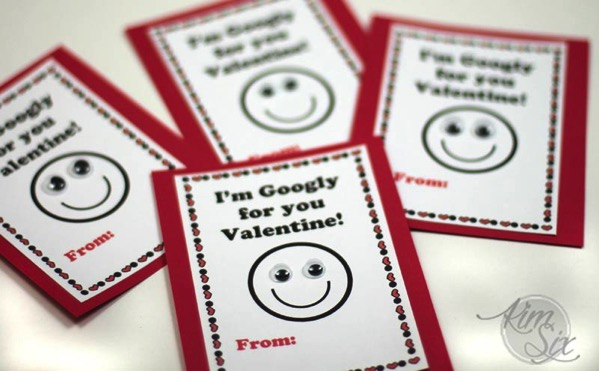 Valentines with googly eyes