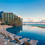 Hard Rock Hotel Cancun - Pool%2BDusk.JPG