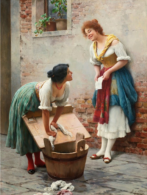 Eugene de Blaas - Sharing the News