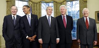 """Bekas-bekas Presiden-presiden Amerika Syarikat yang masih lagi """" bernyawa """""""