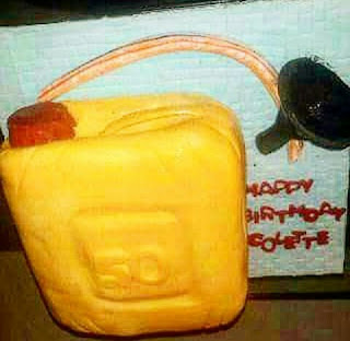 Keg cake , so apt in this fuel scarcity situation