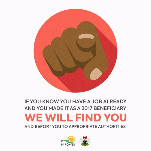 Dear 2017 Beneficiaries, If You Know You Already Have A Job, Resign NOW.