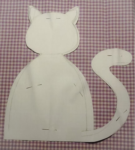 La mia craft room tutorial gatto fermaporta for Gatti in pannolenci