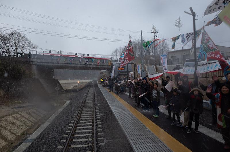 190323 歓迎の織笠駅に入る