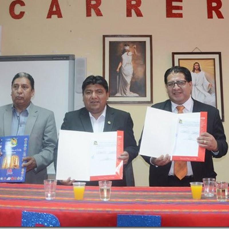 UPEA firma convenio con el Colegio de Abogados de La Paz para la carrera de Derecho