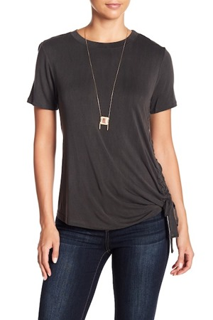 cinched side tee