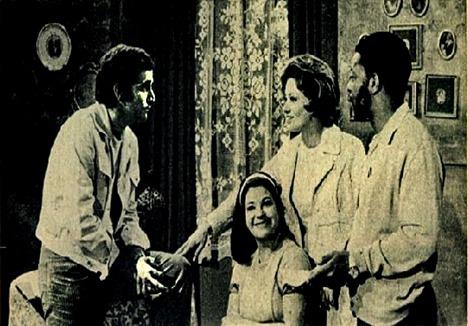 Glória Menezes e Claudio Marzo na novela Irmãos Coragem - 1970 - Foto Adhemar Venezano