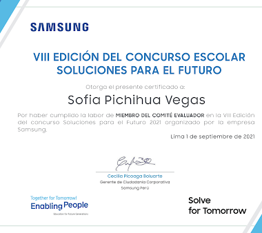 Comité evaluador en concurso de Samsung