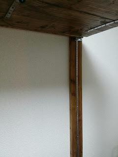 ディアウォールウッドシェルフ棚の支柱と棚受け