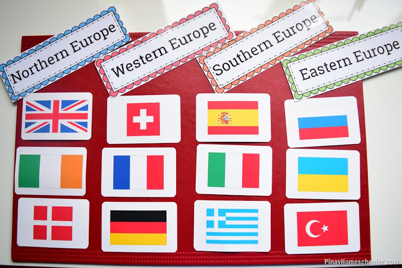Europe Continent Study: Flags
