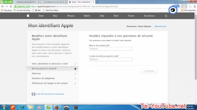 Hình 8 - Hướng dẫn cách đổi mật khẩu iCloud trên Apple ID