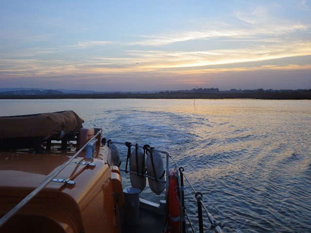 View of the sun setting in the west from the ALB in the Wareham Channel - 31 October 2014. Photo credit: Dave Riley