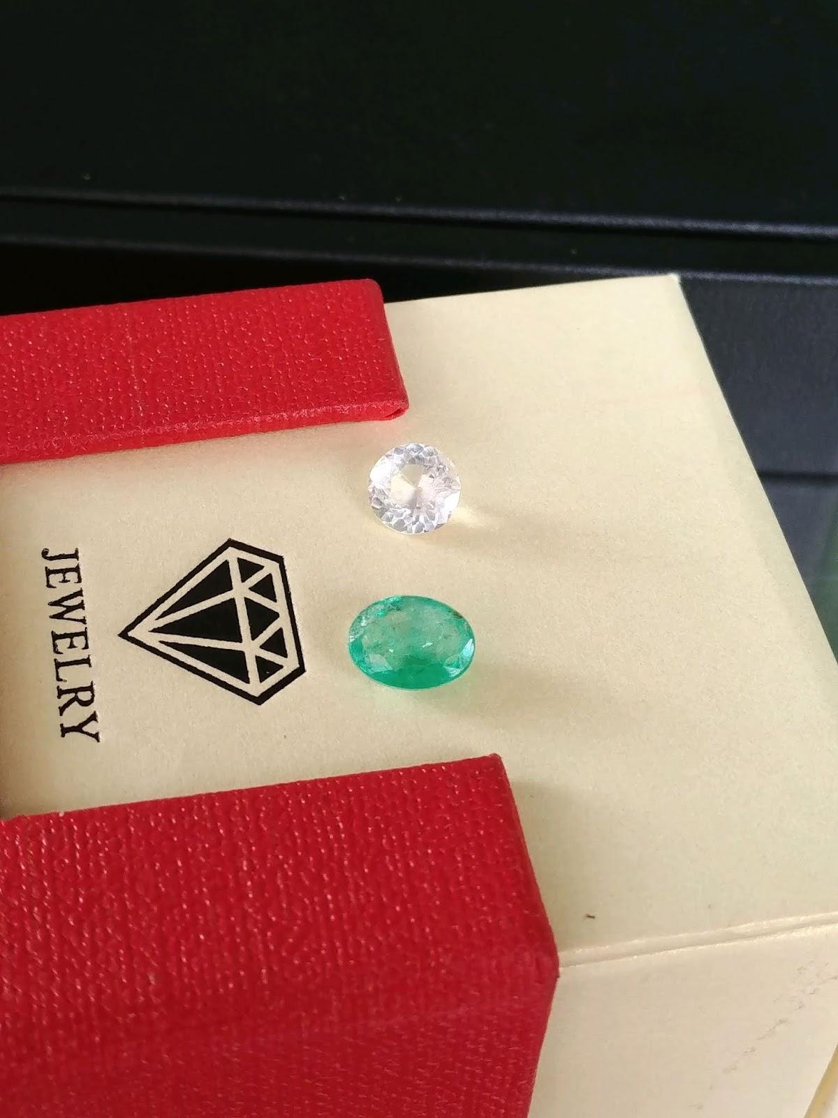 Natural Emerald & Natural Topaz