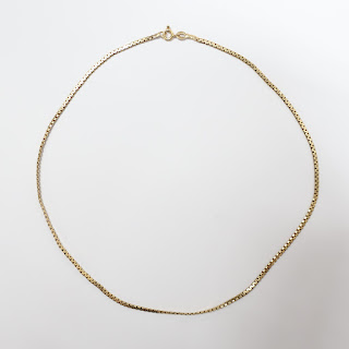 14K Gold Flat Chain Necklace (Spring Clasp)