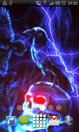 Lightning Skull Live Wallpaper