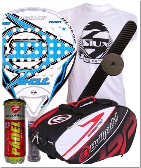 Pack 2 Palas Dunlop Shout y Paletero Bullpadel