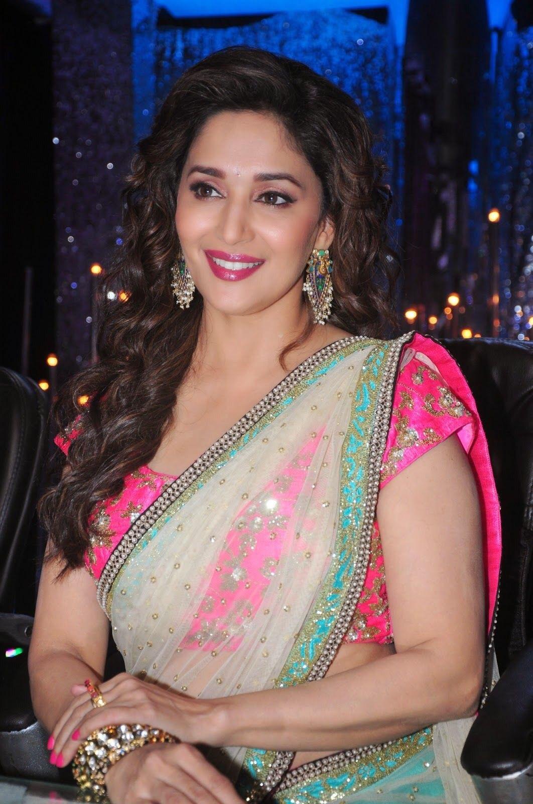 Madhuri deekshit latest hot saree photos | navel show Navel Queens