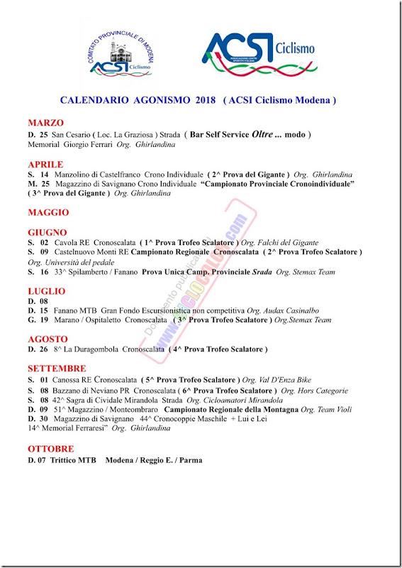 calendario_acsi_modena_2018_ciclocolor