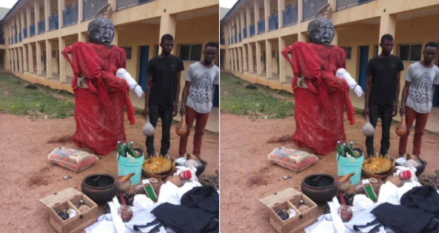 Police Uncover Ritual Shrine Used By Cultists/Ritualists In Osun State, 2 Members Arrested