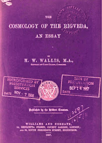 Cover of Horace Wallis's Book The Cosmology of the Rigveda