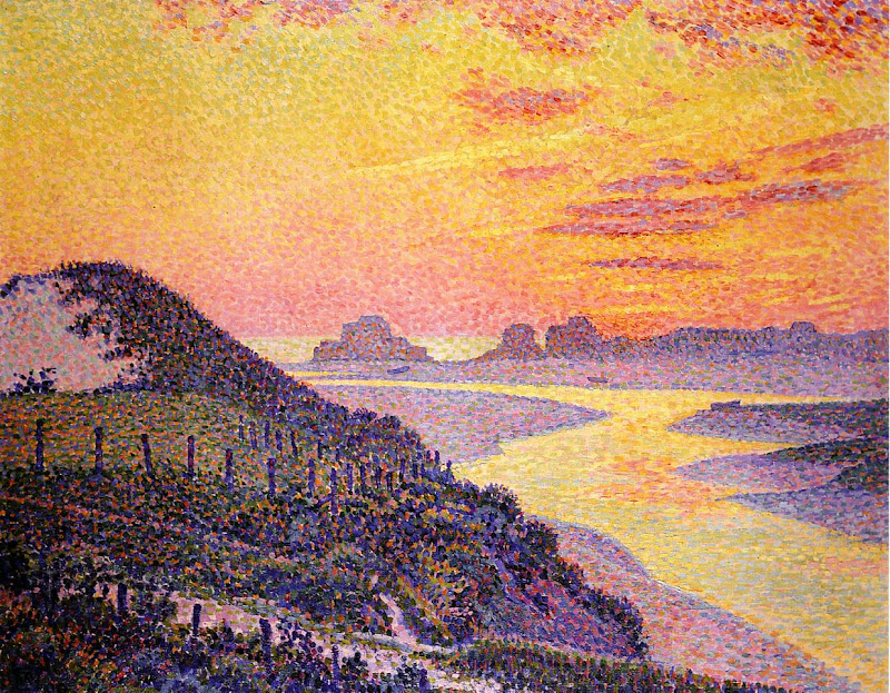 Theo van Rysselberghe - Sunset at Ambletsuse, Pas-de-Calais