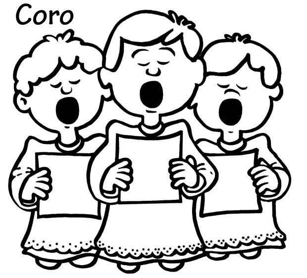 Imagenes De Dibujos Ninos Cantando