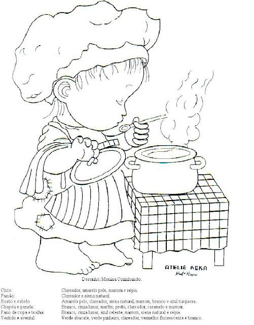 desenho de criança cozinhando para colorir desenhos para colorir