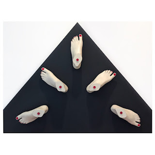 Judith Davis 'Our Left Feet' Modern Conceptual Sculpture