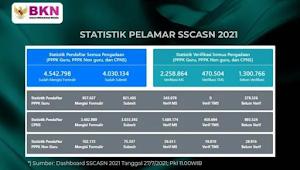 Pendaftaran Resmi Ditutup, Ini Hasil Verifikasi Data CPNS 2021 dan PPPK, Ada 470 Ribu Pelamar Tidak Memenuhi Syarat, Ini Rinciannya