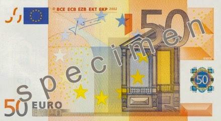 gambar uang kertas 50 euro