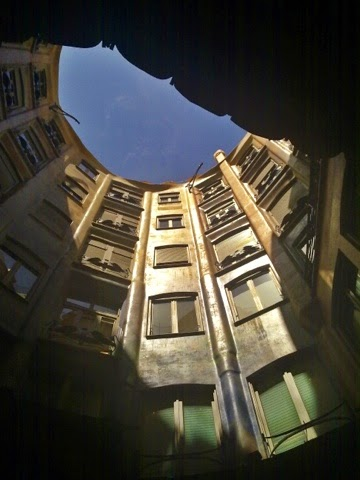 Courtyard of Casa Mila or La Pedrera