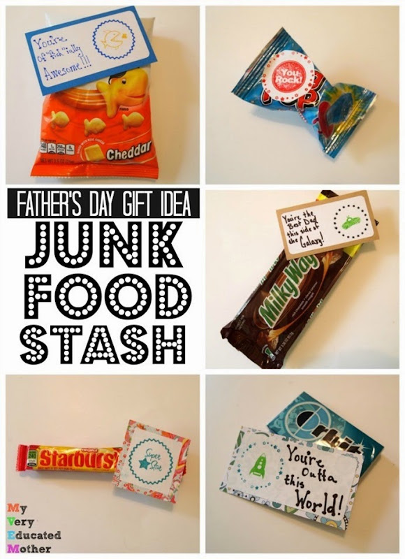 Quick and Easy Father's Day Gift Idea - Junk Food!