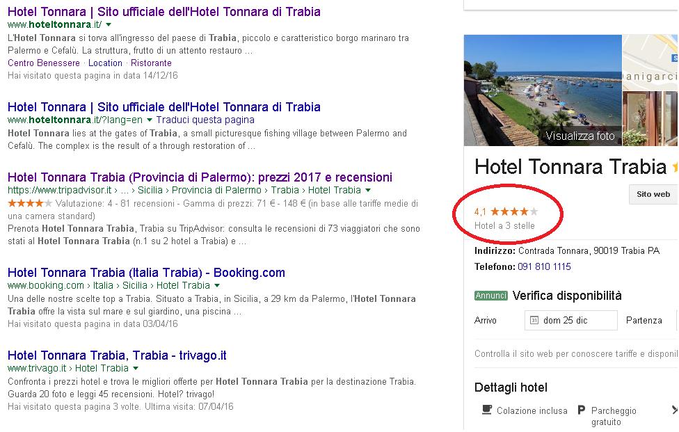 Modifica Classificazione Alberghiera Per Hotel Google