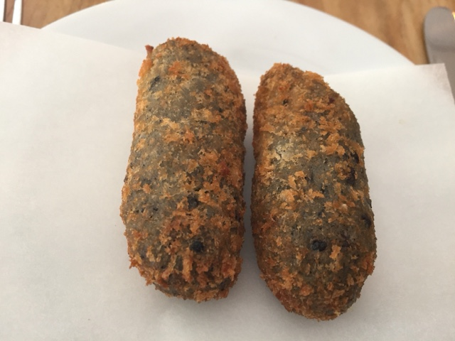Homemade ink squid croquettes makelesmouthful
