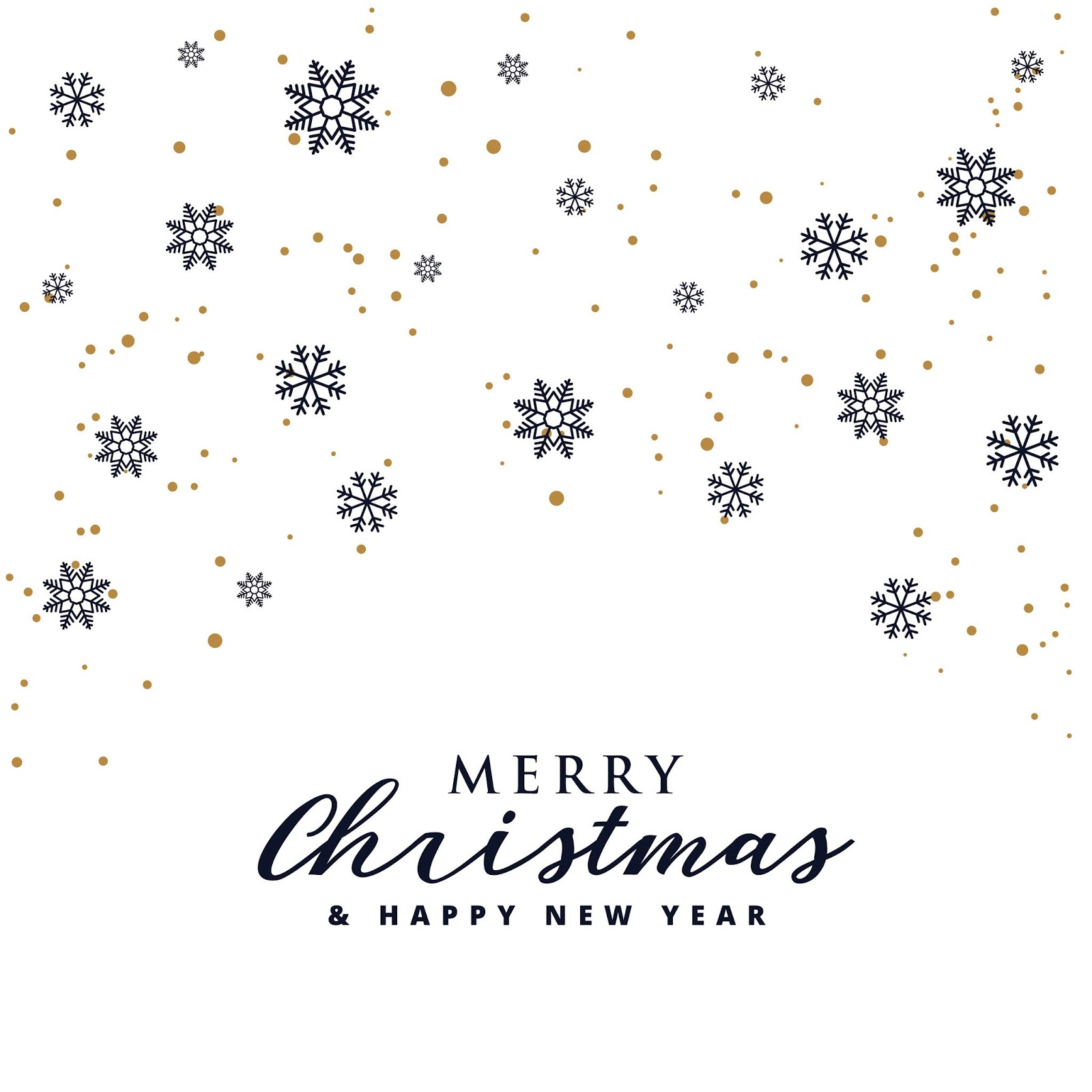 Elegant Merry Christmas Festival Background With Snowflakes Free Download Vector CDR, AI, EPS and PNG Formats