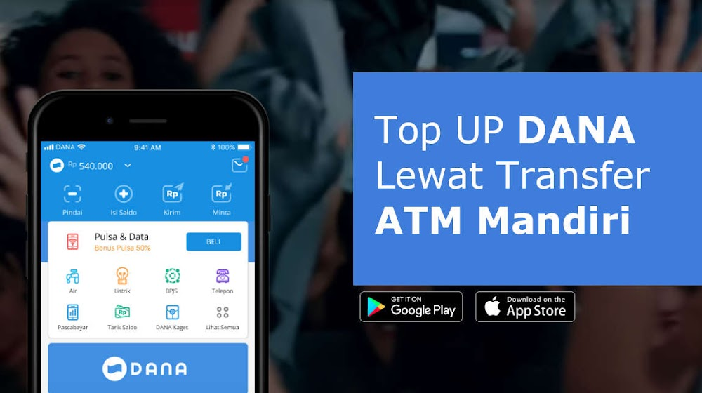 Cara Top Up DANA Lewat Transfer ATM Mandiri