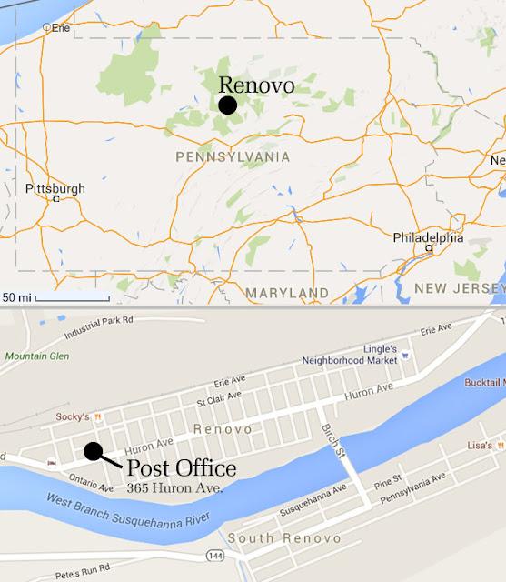 Renovo, PA map