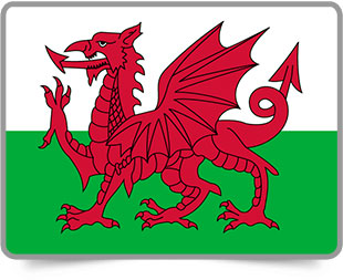 Welsh framed flag icons with box shadow