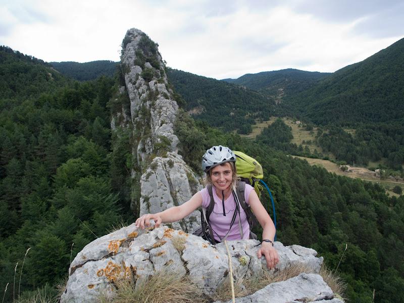 La Sílvia després de superar un tram d'escalada