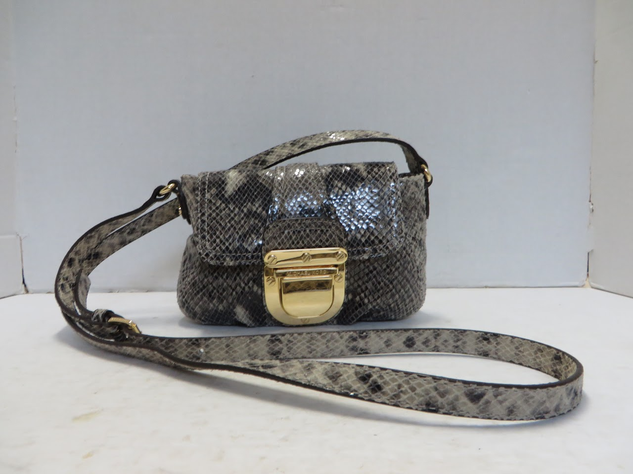 Michael Kors Faux Snakeskin Evening Bag