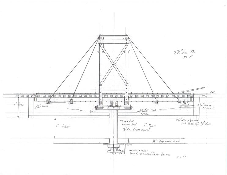 60 gallows turntable for hon3 the for Car turntable plans