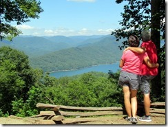 T&D at an overlook to Fontana Lake
