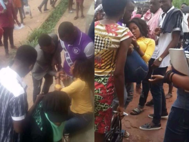 OhFoGboloJo! Student Faints After Being Flogged By Lecturer (Photos)
