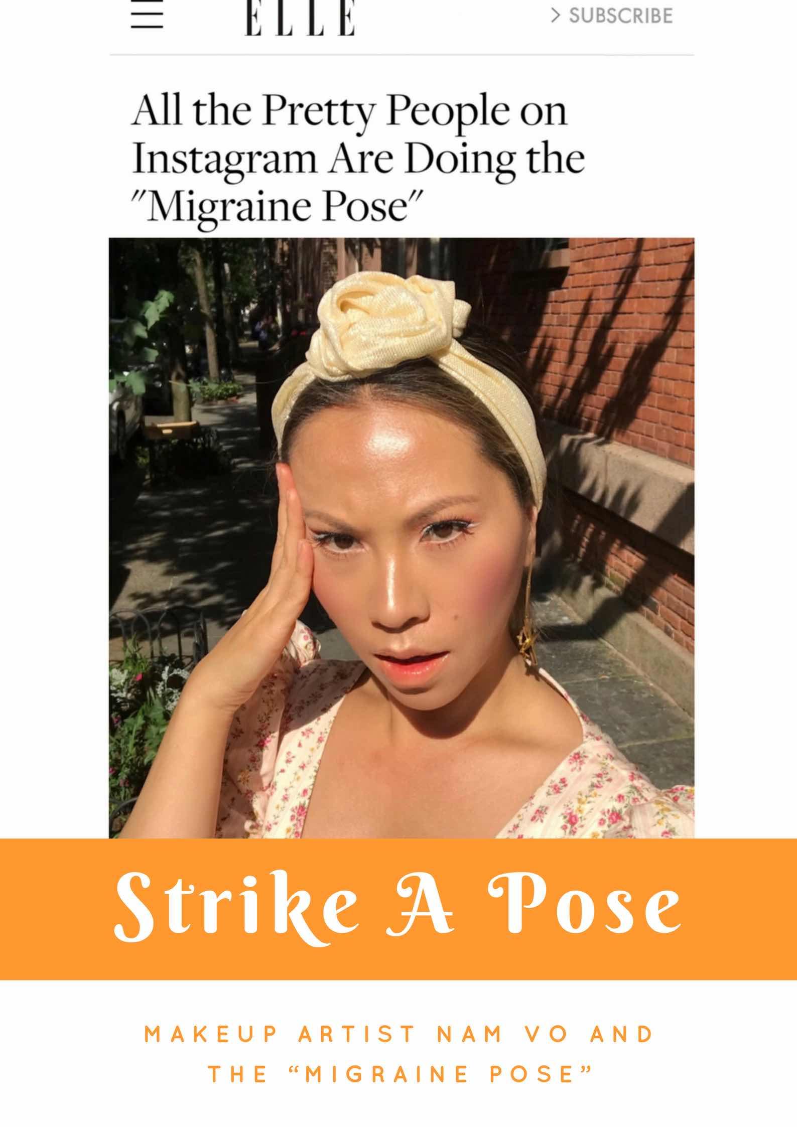 strike a pose, migraine pose, #migrainepose, #truemigrainepose,
