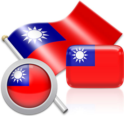 Taiwanese flag icons pictures collection