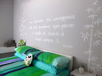 Arredamento moderno a Bergamo, camera da letto con letto Fluttua Lago con testata in pelle.JPG