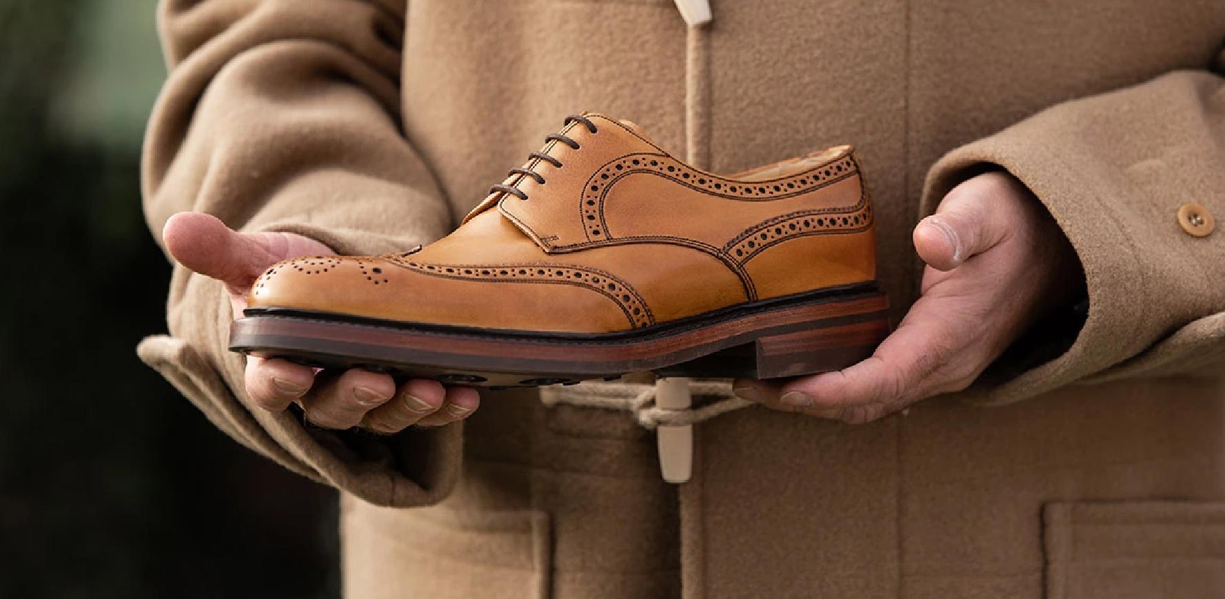 Kelmarsh - Men's Leather Derby Brogue Shoes By Barker