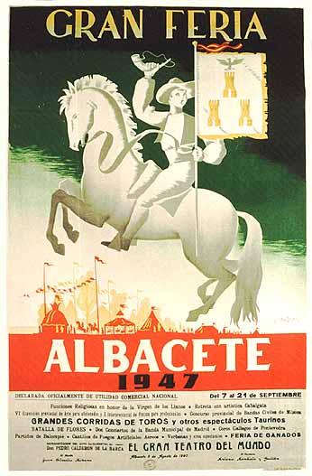 Cartel Feria Albacete 1947