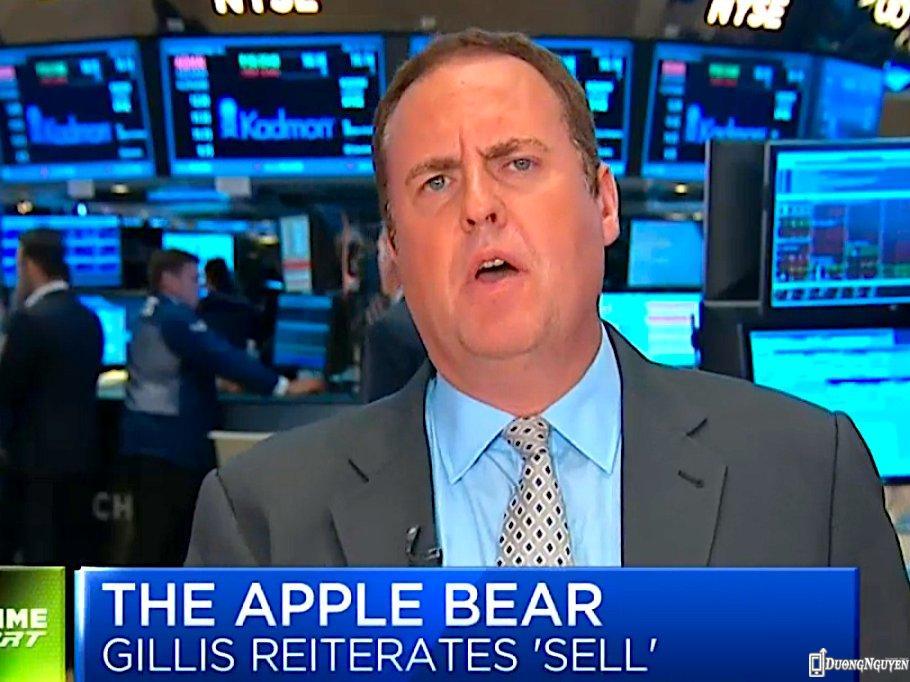 Chuyên gia phân tích Colin Gillis, người rất cực đoan đối với Apple.