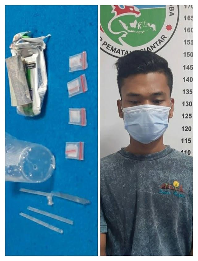 Simpan Narkoba Dalam Cafe, Samuel Terpaksa Nginap di Sel Polresta Siantar